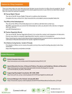 Page 4 of the Advocacy and Conflict Resolution brochure in English. PDF version is below this image.