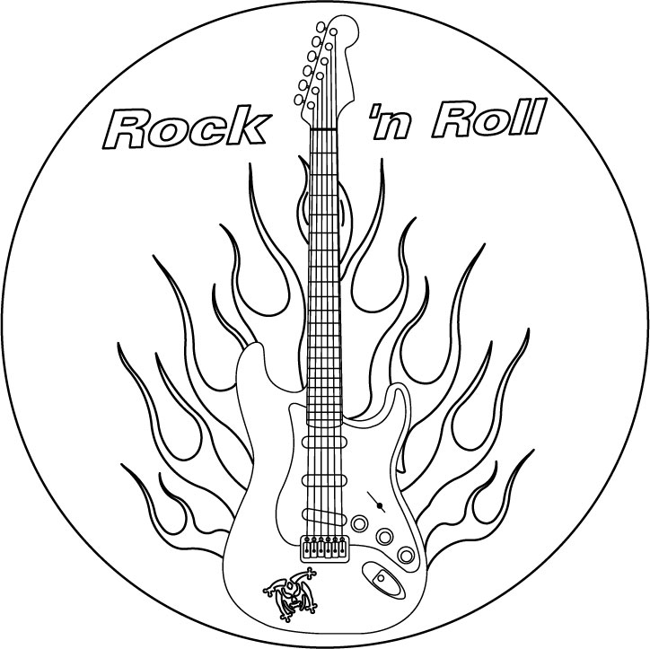 Fender Guitar Coloring Pages Coloring Pages