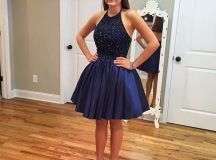 New Arrival Navy Blue Prom Dresses,Short Prom Dress2016 ...