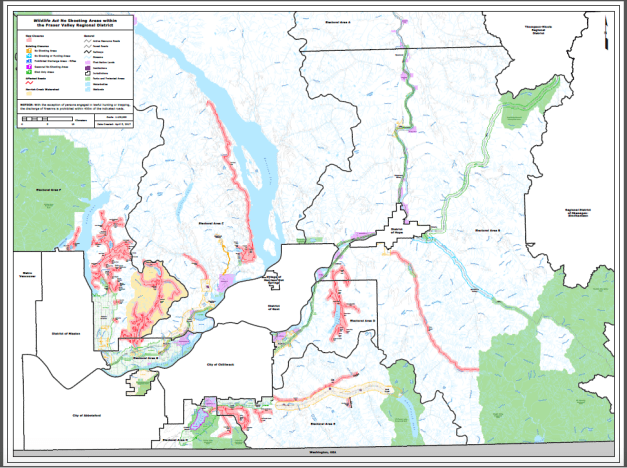 Fraser Valley No Shoot Areas April 2017 and Shooting Restrictions