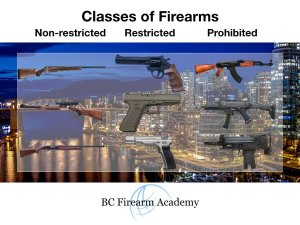 List of Restricted and Prohibited Firearms in Canada Regulations Prescribing Certain Firearms Prohibited, Restricted or Non-Restricted