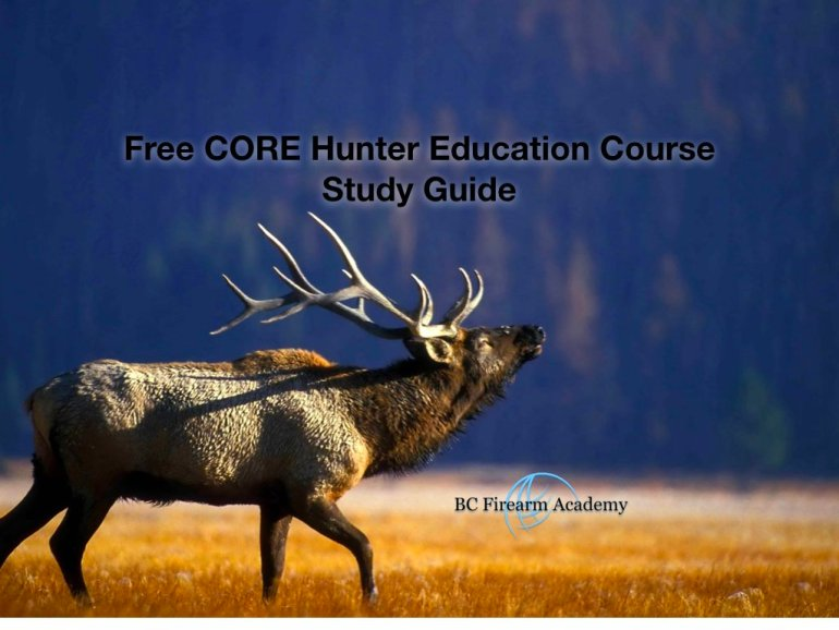 Free CORE Hunter Education Course Study Guide