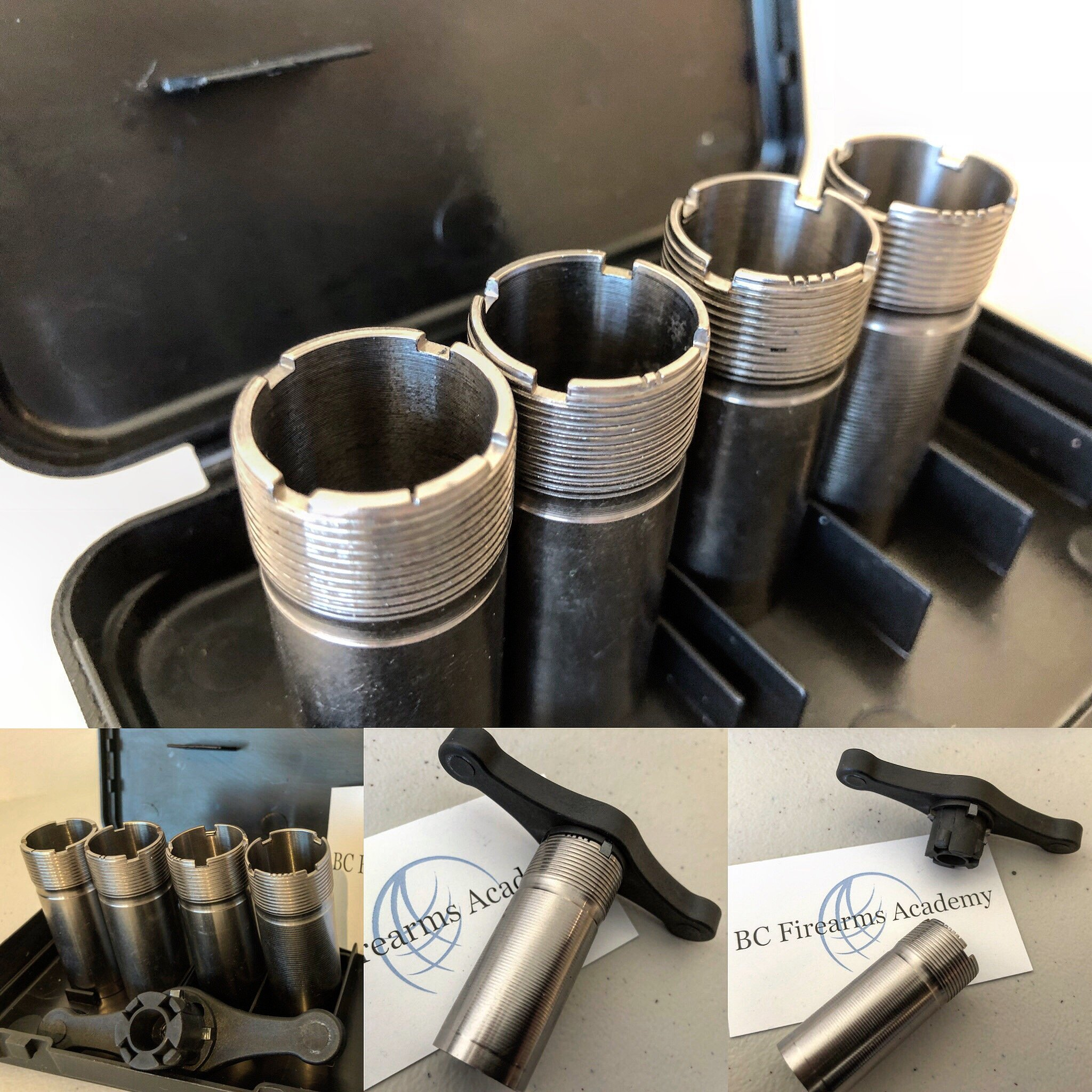 Four Common Shotgun Chokes – Full choke, Modified choke, Improved cylinder and Cylinder bore