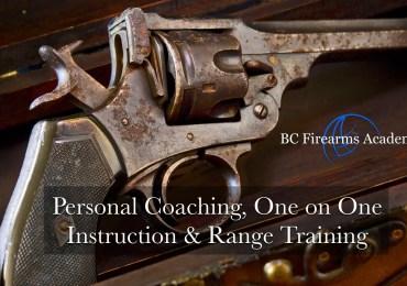 Personal Coaching, One on One Instruction & Range Training Jan 20