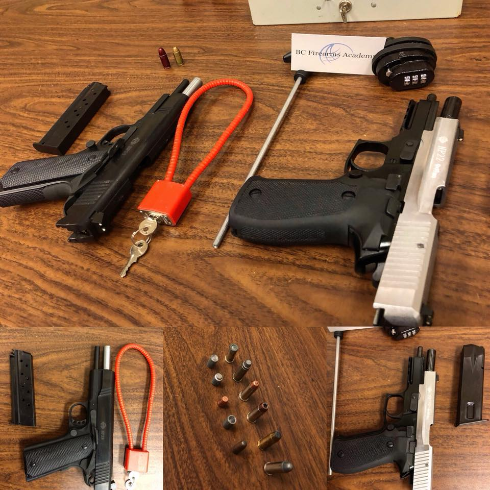 Restricted Firearms Safety Course testing table  BC Firearms Academy