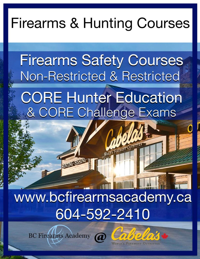 BC FIREARMS ACADEMY CABELA'S ABBOTSFORD LOCATION – PAL & CORE COURSES
