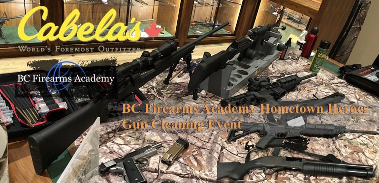 BC Firearms Academy Hometown Heroes Gun Cleaning Event Followup