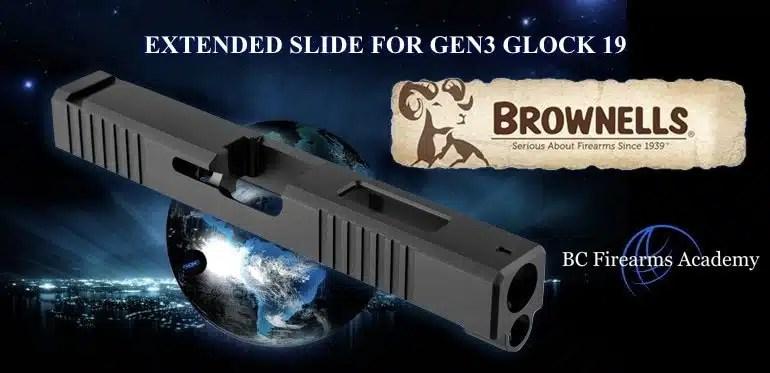 Brownells Glock 17 Length Slides for Glock 19 Pistols