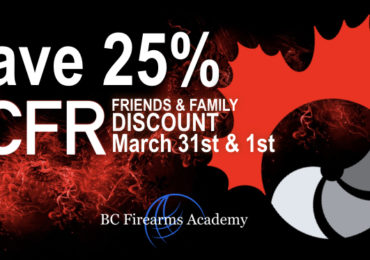 25% Off PAL Course for CCFR Members Friends and Family March 31st & April 1st