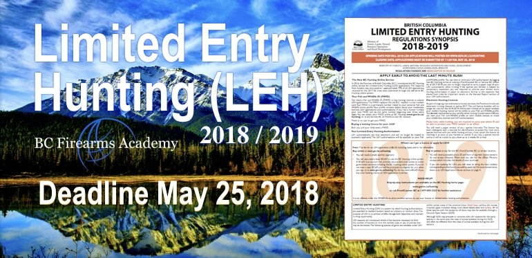 Limited Entry Hunting (LEH) 2018/2019 Synopsis