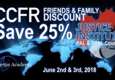 New 25% Off PAL Courses for CCFR Members Friends and Family June 2nd & 3rd