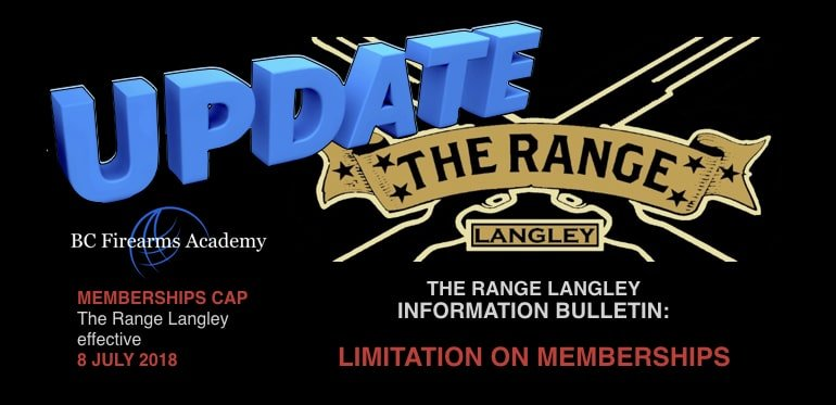 The Range Langley Caps Membership Effective 8 July 2018