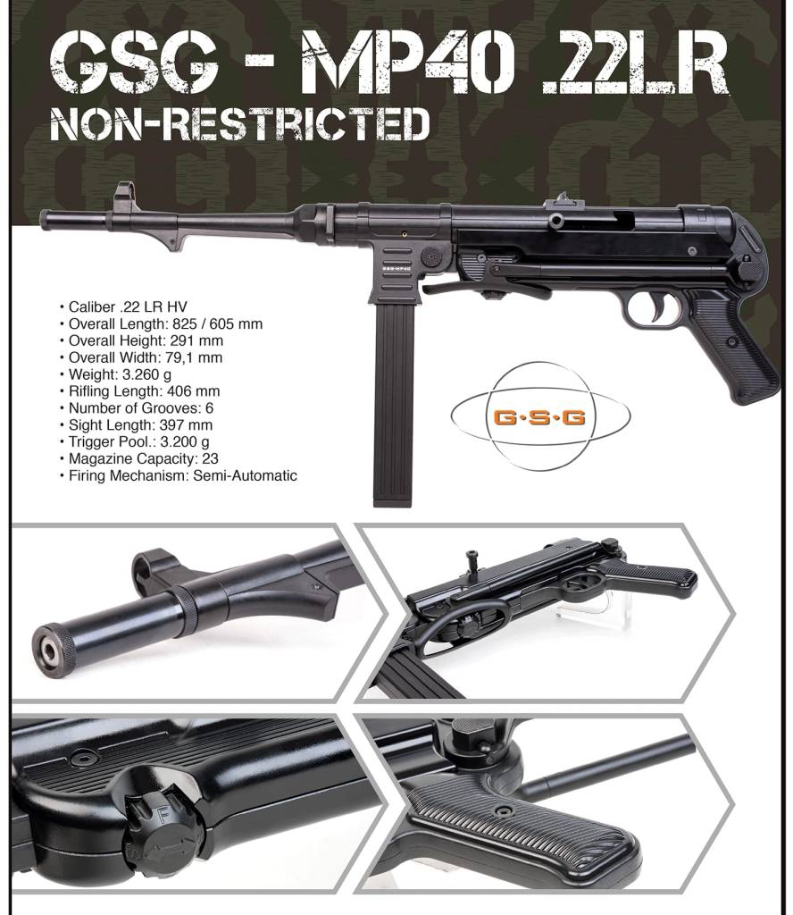 non restricted MP40 Canada BC Firearms Academy
