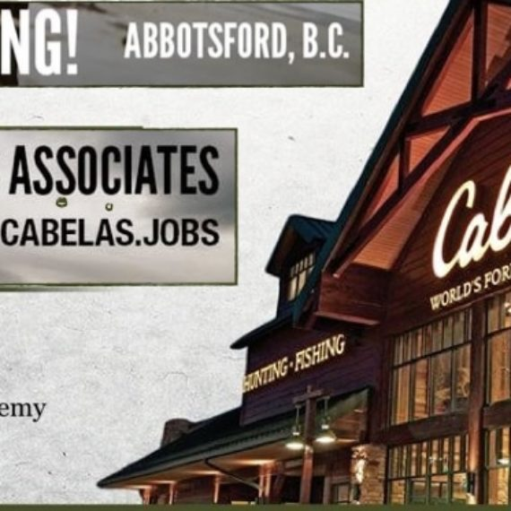 Cabela's Abbotsford JOB FAIR September 8th 12 pm – 3 pm 2018