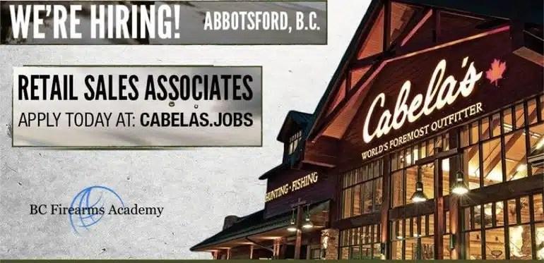 Cabela's Abbotsford JOB FAIR September 8th 12 pm – 3 pm 2018