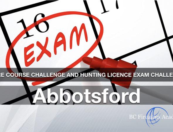 CORE CHALLENGE Hunting License Exam Challenge Abbotsford Sun Oct 20