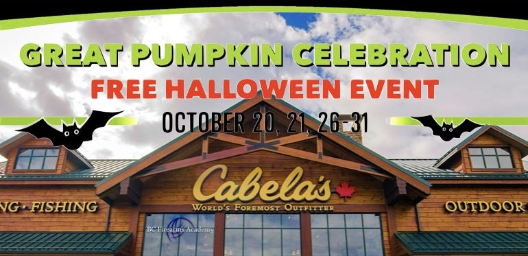 Great Pumpkin Celebration October 2018 at Cabela's Abbotsford