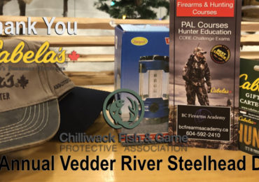 Thank You Cabela's for Donating to the 74th Annual Vedder River Steelhead Derby