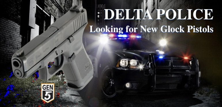Delta Police Looking for New Glock Pistols January 2019