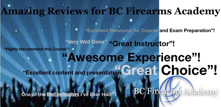 Amazing Reviews for BC Firearms Academy!