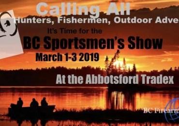 BC Sportsmen's Show March 1-3, 2019