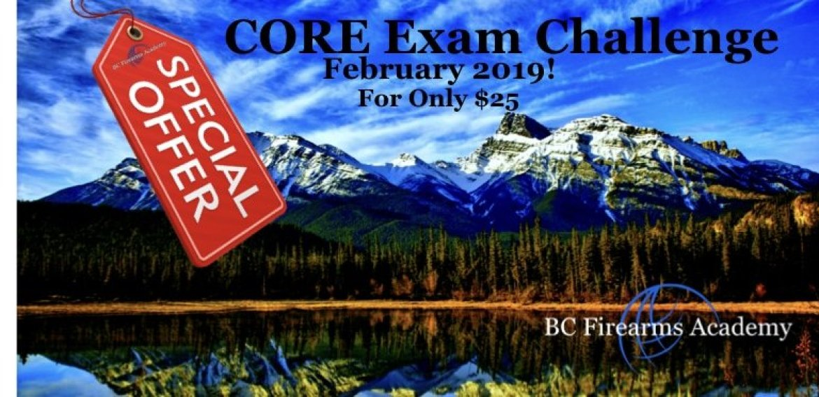 CORE Challenge Sale February 2019 BC Firearms Academy