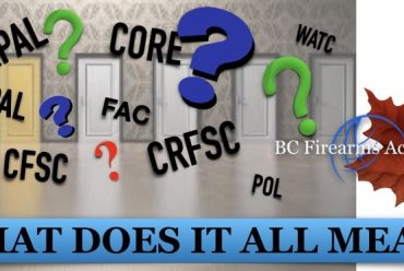 Firearms Acronyms and Initialisms in Canada