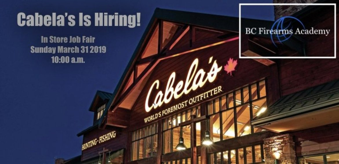 Cabela's Abbotsford is Hiring!