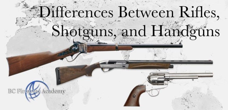 Differences Between Rifles, Shotguns, and Handguns