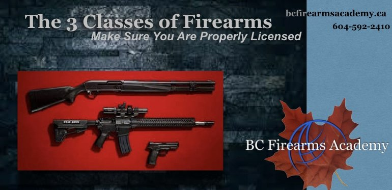 The 3 Classes of Firearms: Make Sure You Are Properly Licensed