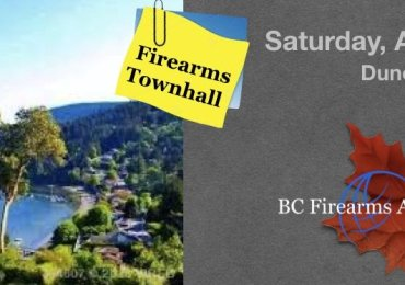 Firearms Townhall in Duncan B.C. April 27 2019 BCAF