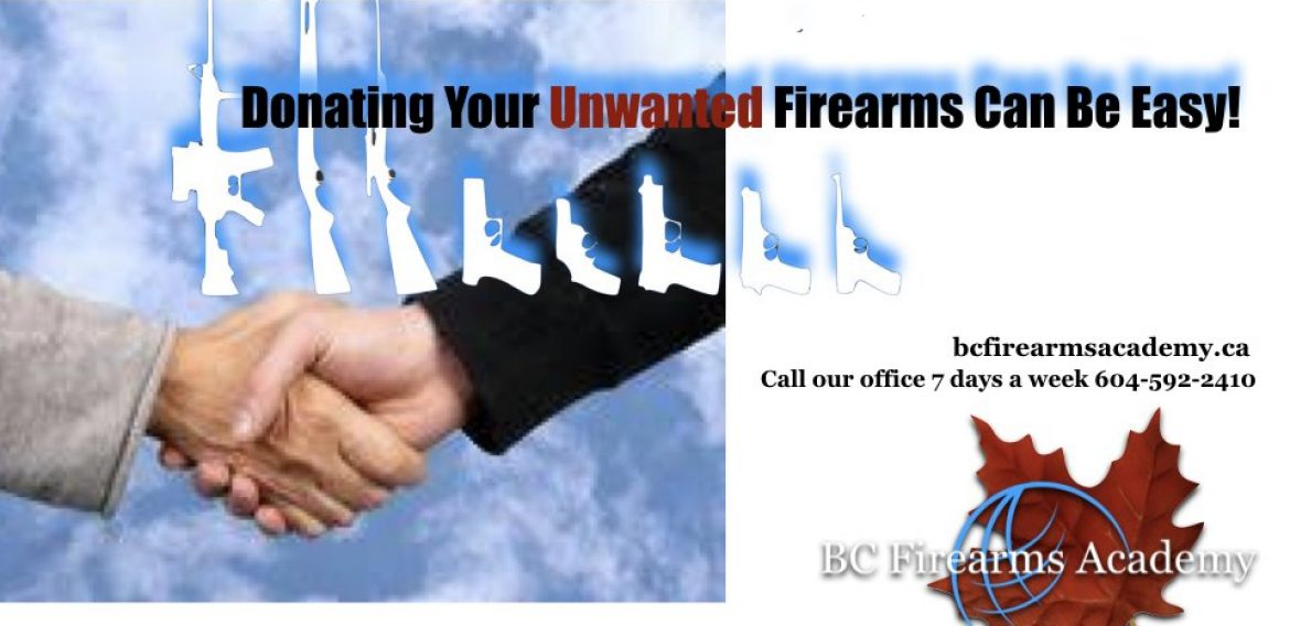 Donate Your Unwanted Firearms