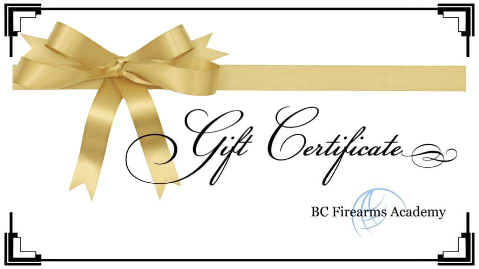 Gift Certificates PAL and COREFeatured Images BC Firearms Academy