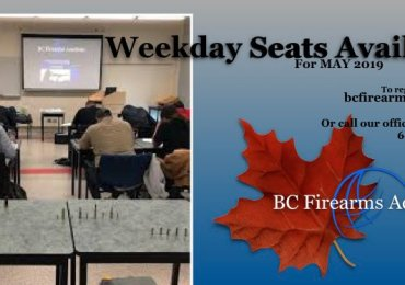 Weekday Seats Available for May 2019 CFSC/CRFSC & CORE