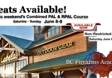 Still Room in This Weekend's PAL Course at Cabela's Abbotsford