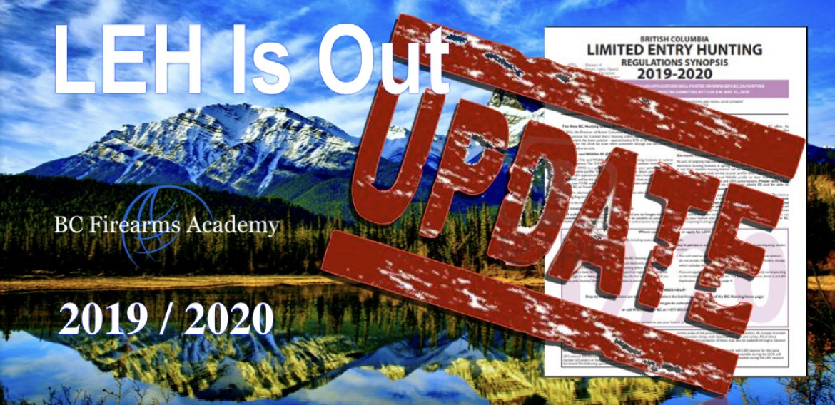 The 2019/ 2020 BC Limited Entry Hunting results are out!