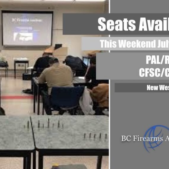 Next Non-Restricted/Restricted PAL Course in New Westminster