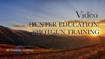 Hunter Education: Shotgun Training