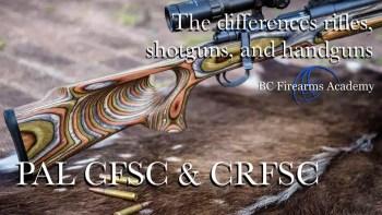 The Differences Between Rifles, Shotguns, and Handguns