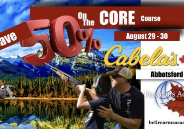 CORE Course 50% OFF Sale August 29 – 30 with BC Firearms Academy