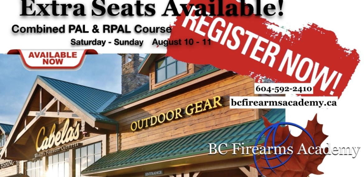 Seats Available for Aug 10 – 11 CFSC PAL Course