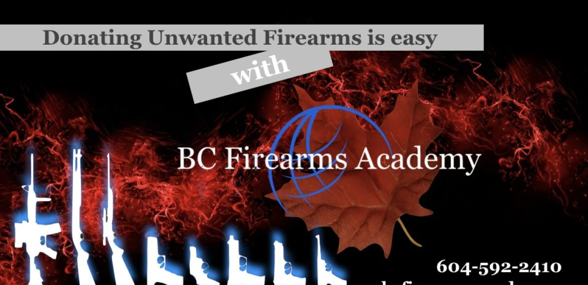 Firearm Donation with BC Firearms Academy