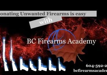 Firearm Donation with BC Firearms Academy