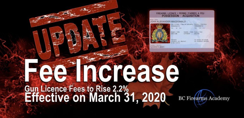 Increase In Gun Licensing ( PAL ) Fees March 31 2020