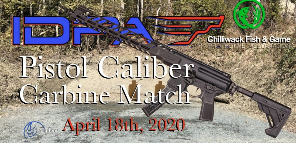Pistol Caliber Carbine IDPA April 15th