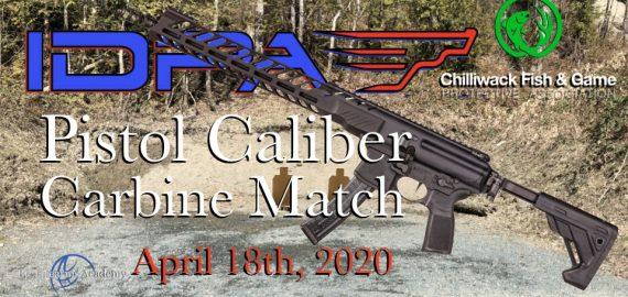 Pistol Caliber Carbine IDPA April 15th