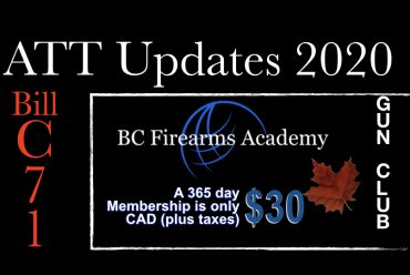ATT Update February 2020 Ministry of the Solicitor General Chief Firearms Office