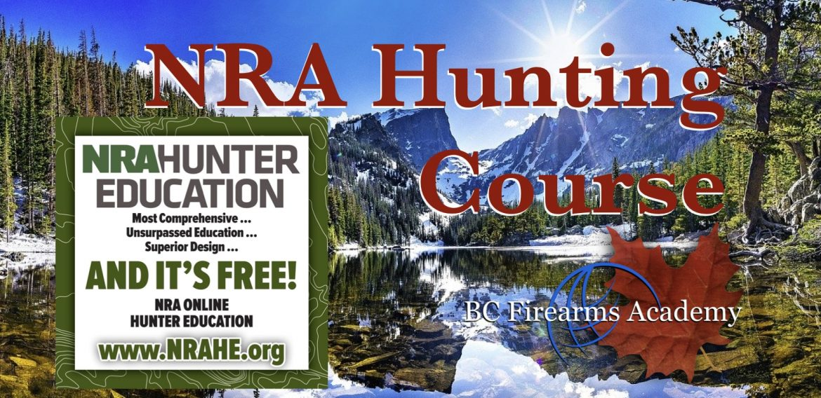 NRA Online Hunter Education Course FREE Online Course