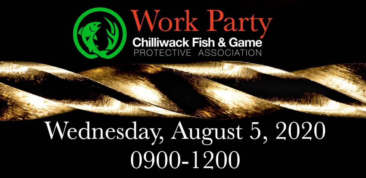 Work Party this coming Wednesday, August 5, 2020