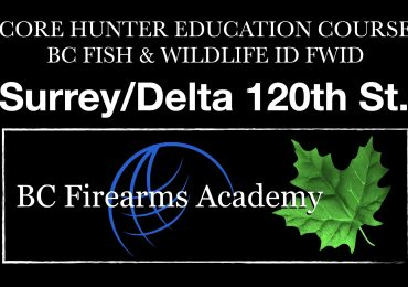 CORE Hunter Education Course -BC Fish & Wildlife ID- Surrey/Delta Saturday-Sunday Jan 16-17